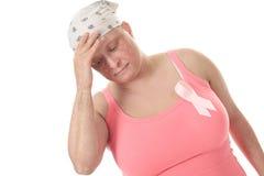 乳腺癌治疗战斗查找资金邮政印花税 免版税库存照片