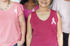 乳腺癌细胞肿瘤女性妇女概念 库存图片