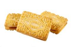 乳蛋糕奶油色饼干 免版税图库摄影