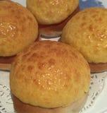 乳蛋糕小圆面包 免版税库存照片