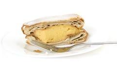乳蛋糕片式 库存照片