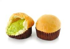 乳蛋糕面包 免版税库存照片
