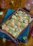 乳蛋饼蔬菜 库存照片