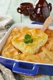 乳酪从未经发酵的面团的吹饼 免版税图库摄影