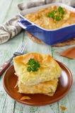 乳酪从未经发酵的面团的吹饼 库存照片