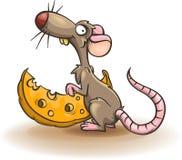 乳酪传染媒介动画片老鼠和片断  免版税库存图片