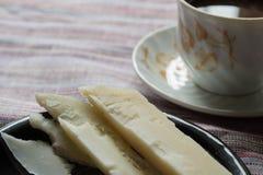 乳酪和咖啡 免版税库存照片