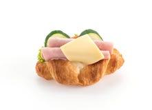 乳酪和火腿新月形面包 库存照片