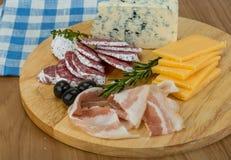 乳酪和烟肉 免版税库存图片