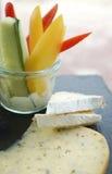 乳酪和菜 免版税库存图片