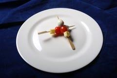 乳酪和蕃茄 库存图片