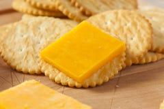 乳酪和薄脆饼干开胃菜 免版税库存照片