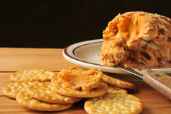 乳酪和薄脆饼干 库存照片