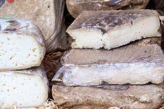乳酪和酒, Piedmonte,意大利典型的产品  图库摄影