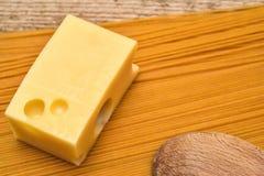 乳酪和面团 库存图片