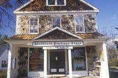 乳酪商店和礼品店,谢菲尔德,麻省 库存照片