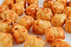 乳酪土豆油炸物 库存照片