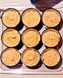 乳酪奶油甜点开胃菜用红辣椒 免版税图库摄影