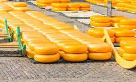 乳酪市场在阿尔克马尔,荷兰 库存图片