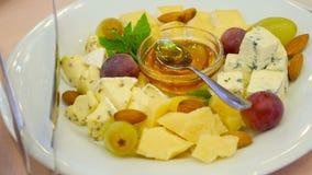 乳酪希脂乳,切达乳酪蜂蜜 影视素材