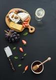 乳酪开胃菜选择或呜咽声快餐集合 图库摄影