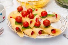 乳酪开胃菜 免版税库存图片