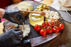 乳酪早午餐,青纹干酪,纤巧 免版税库存照片