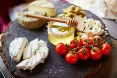 乳酪早午餐,青纹干酪,纤巧 免版税库存图片