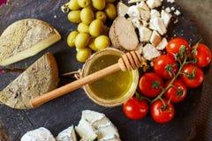 乳酪早午餐,青纹干酪,纤巧 图库摄影