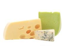 乳酪构成的各种各样的类型。 免版税库存图片