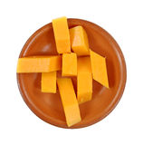 乳酪棍子被切的陶器 免版税图库摄影