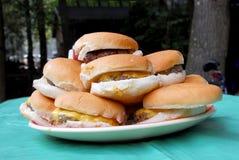 乳酪汉堡天堂 免版税库存照片
