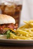 乳酪汉堡油炸物 免版税库存照片