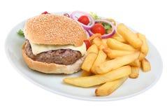 乳酪汉堡筹码 库存图片