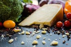乳酪烹调意大利烹调的有机食品牛奶店 图库摄影