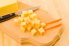 乳酪片断。 免版税库存图片