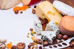 乳酪用干果子和坚果 库存照片