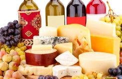 乳酪的各种各样的类型 免版税库存照片