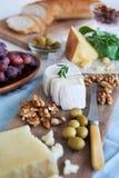 乳酪的选择党的 库存照片