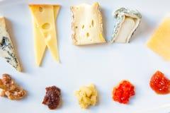 乳酪盛肉盘 图库摄影