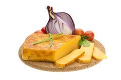 乳酪葱和蕃茄 免版税库存照片