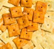 乳酪薄脆饼干 库存照片