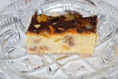乳酪蛋糕切片 免版税库存照片