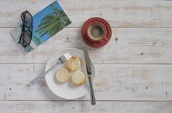乳酪蛋糕和咖啡3 免版税库存照片