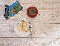 乳酪蛋糕和咖啡4 免版税库存图片