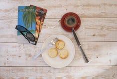 乳酪蛋糕和咖啡5 库存照片