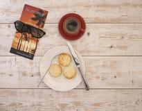 乳酪蛋糕和咖啡7 库存照片