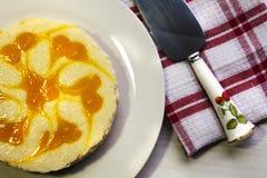 乳酪蛋糕垂直的射击  库存照片