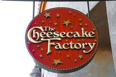 乳酪蛋糕工厂商标 库存照片