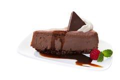 乳酪蛋糕巧克力 免版税库存照片